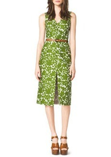 Michael Kors Floral-Print Cotton Dress