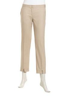 Laundry by Shelli Segal Stretch-Knit Flat Skinny Pants, Oxford