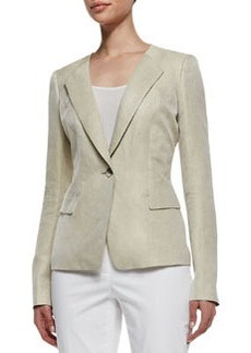 Lafayette 148 New York Eco Twill Weave One-Button Jacket