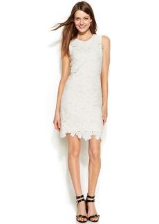 Calvin Klein Petite Sleeveless Floral Lace Sheath