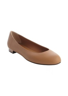 Fendi brown leather ballet flats
