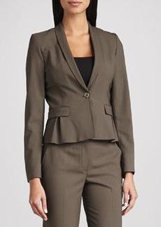 Elie Tahari Paige Wool-Stretch Jacket, Mink