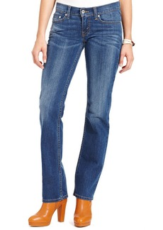 Levi's® Juniors' Red 524 Straight Leg Medium Wash Jeans