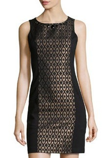 Laundry by Shelli Segal Sleeveless Jacquard Sheath Dress, Black Multi