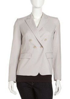 Lafayette 148 New York Franklin Double-Breasted Jacket, Mist