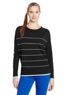 Michael Stars Women's Cashmere Blend Stripe Boatneck Pullover