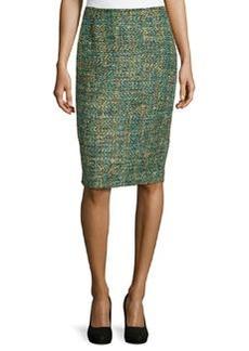 Lafayette 148 New York Empire Tweed Slim Midi Skirt, Dragonfly