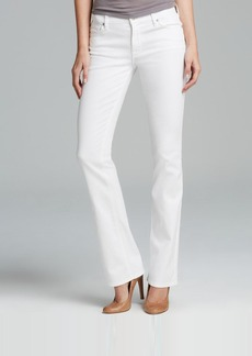 7 For All Mankind Jeans - The Skinny Bootcut in Clean White