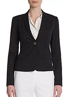 Elie Tahari Patsy Draped-Back Jersey Jacket