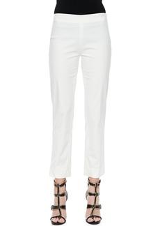 Derek Lam Cropped Cashmere-Silk Cigarette Pants