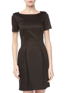 French Connection Poplin Sheath Dress, Black