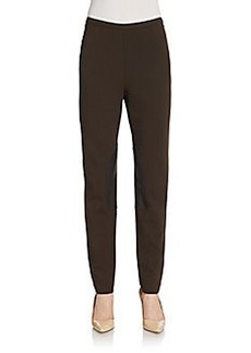 Lafayette 148 New York Leather-Trimmed Slim Pants