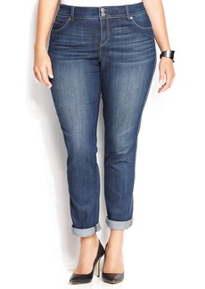 INC International Concepts Plus Size Straight-Leg Jeans, Stormy Wash