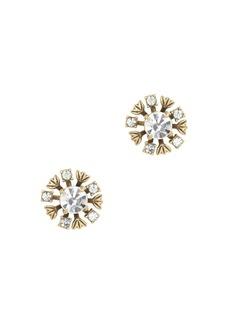 Brass leaves earrings
