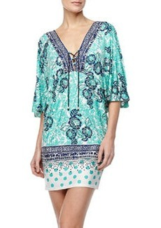 Batiki Mixed-Print Tunic   Batiki Mixed-Print Tunic