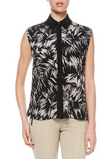 Jason Wu Botanical Cutaway-Back Blouse