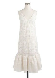 Collection eyelet flounce dress