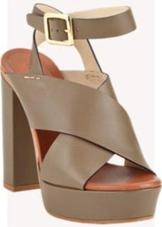 Chloé Crisscross Platform Sandals