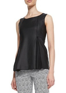 Lafayette 148 New York Ladyn Lambskin Sleeveless Top