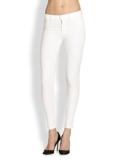 Hudson Nico Mid-Rise Super Skinny Jeans/White