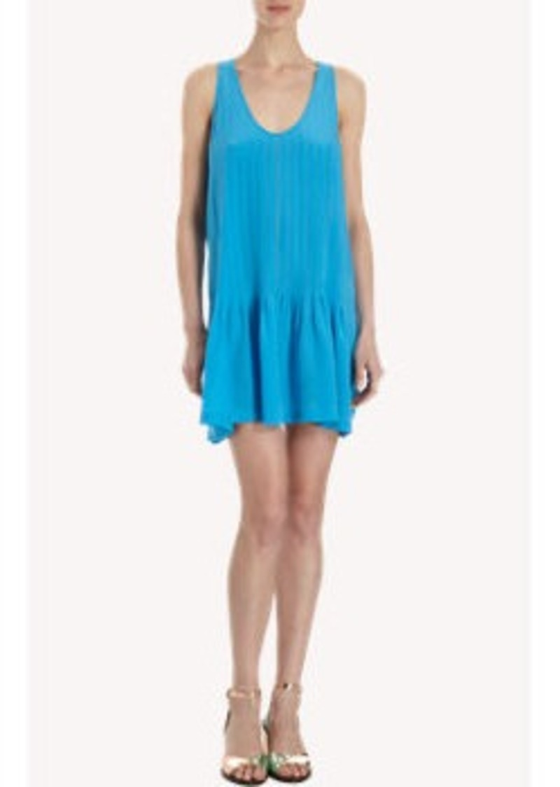 Joie Pleated Scoop Neck Tank Dress