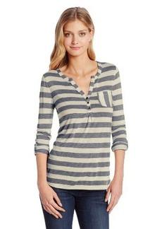 Lucky Brand Women's Stripe Dallas Pocket Top