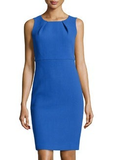Lafayette 148 New York Sleeveless Pleated Wool Dress, Electric Blue