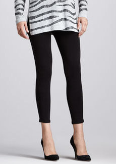 Joan Vass Cropped Jersey Leggings, Women's