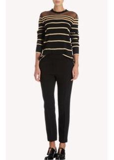 3.1 Phillip Lim Gold Metallic Striped Pullover