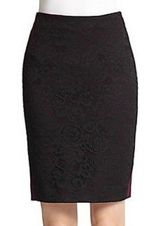 Diane von Furstenberg Mae Lace & Jersey Pencil Skirt