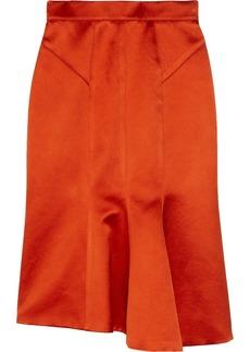 Burberry Prorsum Fluted duchesse-satin skirt