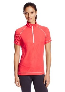 Cutter & Buck Women's Windtec Echo Half Sleeve Zip Tee