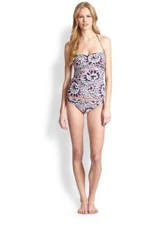Shoshanna Paisley Tankini Bikini Top
