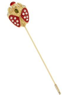 Valentino Gold-tone crystal brooch