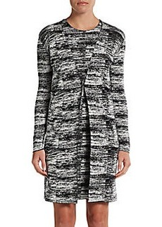 Calvin Klein Collection Static-Print Long Cardigan