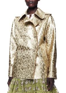 Lanvin Metallic Leopard Jacket, Gold