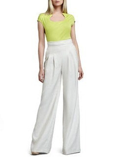 Lafayette 148 New York Ludlow Wide-Leg Pants