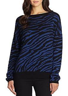 Diane von Furstenberg Zebra-Pattern Wool Jacquard Sweater