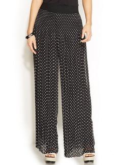 Alfani Petite Wide-Leg Polka-Dot Pleated Pants