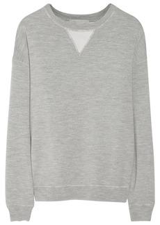 Jason Wu Silk satin-paneled wool-jersey sweatshirt