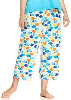 HUE Plus Size Skipper Fish Capri Pajama Pants