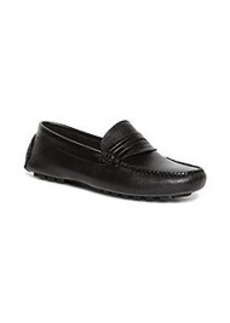 Embossed Calfskin Driving Penny Loafers