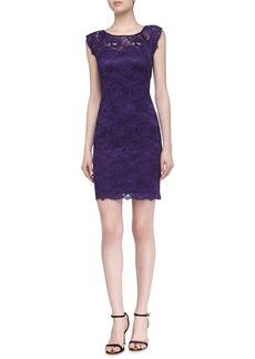 Laundry by Shelli Segal Cap-Sleeve Lace Dress, Grape