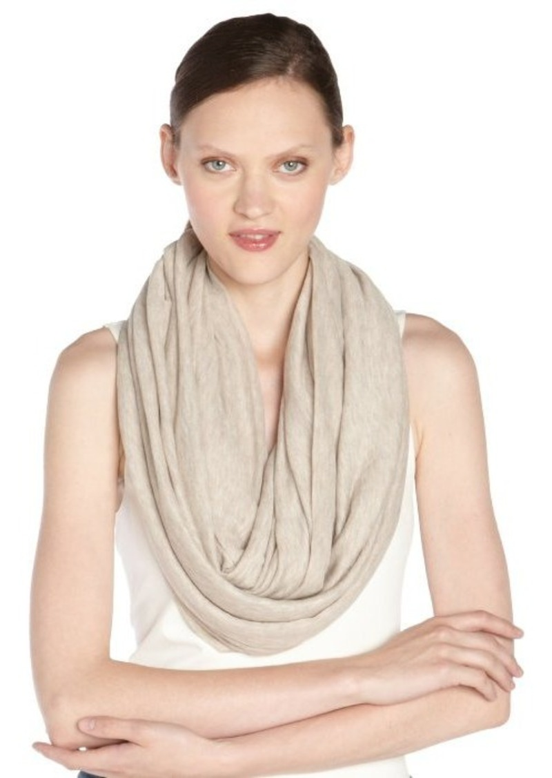 Calvin Klein almond brown stretch 'Super Infinity' scarf