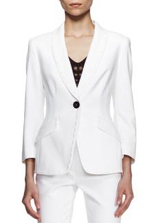 Escada Bracelet-Sleeve Jacket, White