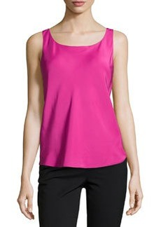 Lafayette 148 New York Luxe Charmeuse Bias-Cut Tank, Gladiola