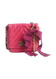 Lanvin fuschia quilted leather 'Happy Mini Pop' shoulder bag