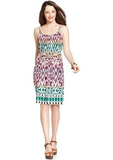 Style&co. Petite Ikat-Print Braided Dress