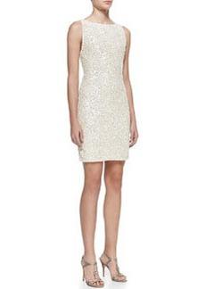 Alice + Olivia Kimber Sequined Scoop-Back Dress