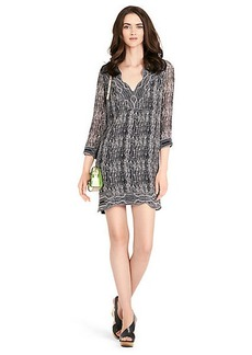 Lexie Printed Silk Tunic Dress